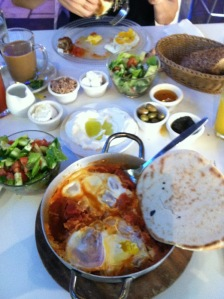 Israeli breakfast in Haifa