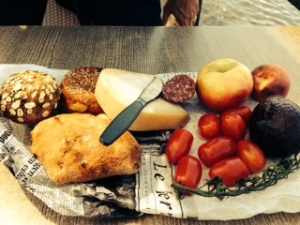 Our farmer's market picnic fixings. Vermeer would approve.
